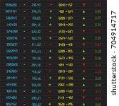 stock exchange board | Shutterstock .eps vector #704914717