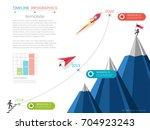 milestone timeline infographic... | Shutterstock .eps vector #704923243