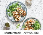 hot sandwiches with mushrooms...   Shutterstock . vector #704923483