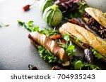 sandwich. fast food. deli... | Shutterstock . vector #704935243