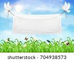 vinyl banners backdrop with... | Shutterstock .eps vector #704938573