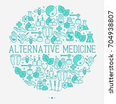 alternative medicine concept in ... | Shutterstock .eps vector #704938807