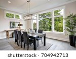 luxurious modern dining room... | Shutterstock . vector #704942713