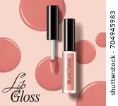 modern lip gloss mockup ... | Shutterstock .eps vector #704945983