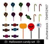halloween sweets | Shutterstock .eps vector #704952907