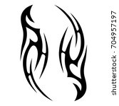 tribal tattoo art designs.... | Shutterstock .eps vector #704957197