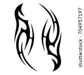 tattoo tribal vector design.... | Shutterstock .eps vector #704957197