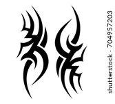 tattoo tribal vector design.... | Shutterstock .eps vector #704957203