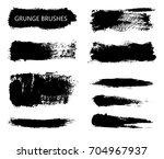 collection of grunge brush... | Shutterstock .eps vector #704967937