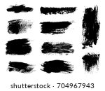 collection of grunge brush... | Shutterstock .eps vector #704967943
