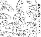 bat vector illustration. cute...   Shutterstock .eps vector #704982457