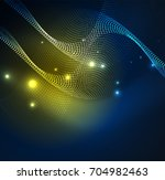 3d illuminated wave of glowing...   Shutterstock .eps vector #704982463