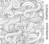 wave vector seamless pattern.... | Shutterstock .eps vector #704990473