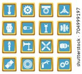 techno mechanisms kit icons set ... | Shutterstock .eps vector #704999197