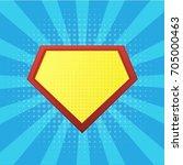 blank superhero badge. vector | Shutterstock .eps vector #705000463