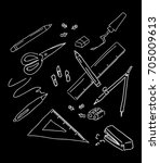 black and white back to school  ...   Shutterstock .eps vector #705009613