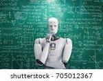 3d rendering robot learning or... | Shutterstock . vector #705012367