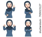 islam woman character portrait  ... | Shutterstock . vector #705015127