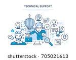 technical support  call center  ...   Shutterstock .eps vector #705021613