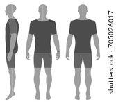 man's silhouette  in summertime ...   Shutterstock .eps vector #705026017