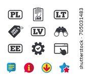language icons. pl  lv  lt and...