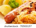 sausage with potatoes and... | Shutterstock . vector #70503157