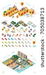 build your own city . set of... | Shutterstock .eps vector #705038713