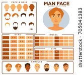 man face constructor skin ... | Shutterstock .eps vector #705041383