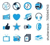 entertainment icons set | Shutterstock .eps vector #705044743