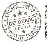 belgrade serbia stamp   Shutterstock .eps vector #705047083