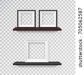 vector set of realistic... | Shutterstock .eps vector #705062587