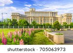 the palace of the parliament ...   Shutterstock . vector #705063973