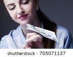 paper airplane desires.... | Shutterstock . vector #705071137