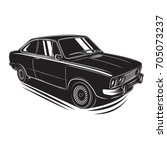 european vintage car vector... | Shutterstock .eps vector #705073237