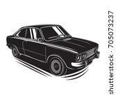 european vintage car vector...   Shutterstock .eps vector #705073237