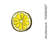 vector sketch cartoon colorful... | Shutterstock .eps vector #705084307