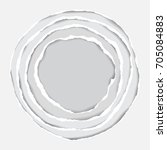 realistic ripped paper circle... | Shutterstock .eps vector #705084883
