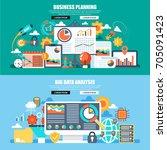 business flat concept web...   Shutterstock .eps vector #705091423
