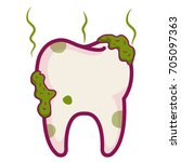 tooth dirty isolated icon | Shutterstock .eps vector #705097363