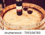port wine on barrel | Shutterstock . vector #705106783