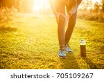 injuries   sports running knee... | Shutterstock . vector #705109267