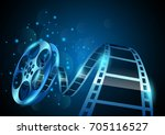 illustration of film reel...   Shutterstock .eps vector #705116527