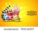 cinema design above vector... | Shutterstock .eps vector #705116557