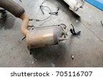 diesel particulate filter  dpf...   Shutterstock . vector #705116707