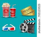 illustration of movie icon | Shutterstock . vector #705123523