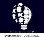 light puzzle icon  vector... | Shutterstock .eps vector #705138037