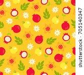 rosh hashanah jewish new year... | Shutterstock .eps vector #705140347