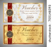 voucher  gift certificate ... | Shutterstock .eps vector #705148393