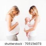 concept of pregnancy | Shutterstock . vector #705156073