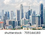 top views skyline business... | Shutterstock . vector #705166183